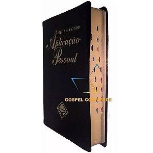 Bíblia De Estudo Aplicação Pessoal Grande Luxo Preta Com Índice - Cpad