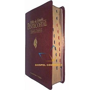Bíblia De Estudo Pentecostal Média Com Harpa Cristã e Índice Vinho Cpad