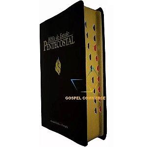 Bíblia De Estudo Pentecostal Média Preta Com Índice - Cpad
