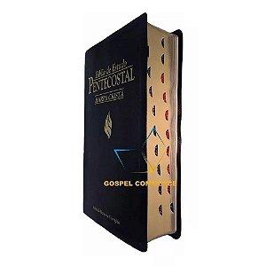 Bíblia de Estudo Pentecostal Com Índice Média Harpa Cristã Preta - Cpad