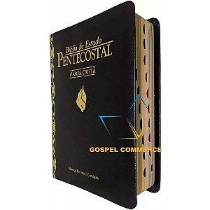 Bíblia de Estudo Pentecostal Pequena Com Índice e Harpa Preta - Cpad