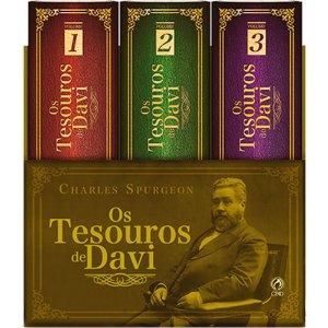 Box Os Tesouros De Davi - Charles Spurgeon - Cpad 3 Volumes