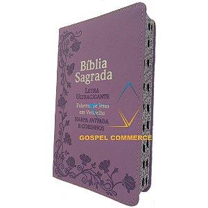 Bíblia Sagrada Letra Ultragigante Lilás Média Palavras de Jesus Em Vermelho - Cpp