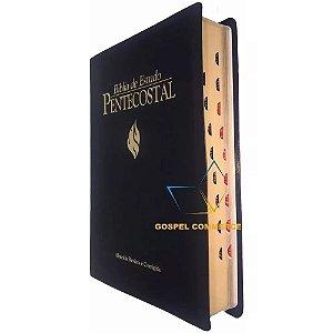 Bíblia de Estudo Pentecostal Grande Preta Com Índice Cpad