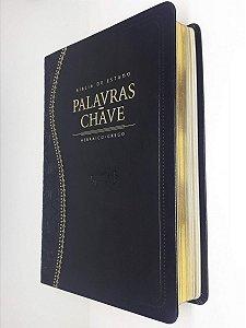 Bíblia De Estudo Palavras Chave - Luxo Preta Clássica - Cpad