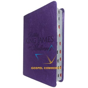 Bíblia King James Para Mulheres - Roxa Com Índice - Bv Books