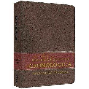 Bíblia De Estudo Cronológica Aplicação Pessoal Tarja Marrom - Cpad