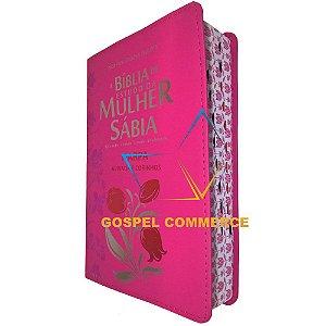 Bíblia de Estudo da Mulher Sábia Letra Grande e Harpa - Pink