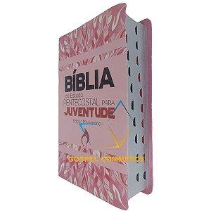 Bíblia de Estudo Pentecostal Para Juventude Edição Missionária Rosa - Cpad