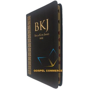 Bíblia King James 1611 Com Índice - Ultrafina Preta - Bv Books
