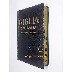 Bíblia Sagrada Com Referências - Luxo Preta - Bv Books
