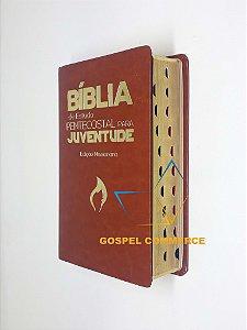 Bíblia De Estudo Pentec. P/ Juventude Ed Missionária Marrom