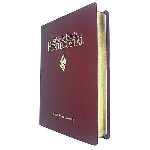 Bíblia de Estudo Pentecostal Grande Vinho 17x23cm - Cpad