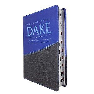 Bíblia de Estudo Dake Com Índice - Cinza Com Azul - Atos