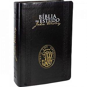 Bíblia de Estudo John Wesley - Luxo Preta - Sbb