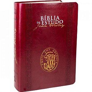 Bíblia de Estudo John Wesley - Luxo Vinho - Sbb
