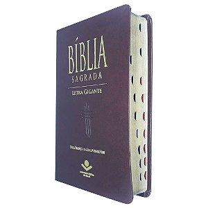 Bíblia Sagrada Letra Gigante - Marrom Ntlh - Sbb
