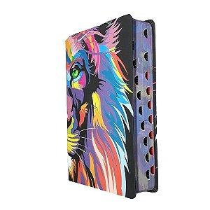 Bíblia NVT - Leão Colorido - Lion color - Letra Grande - MC
