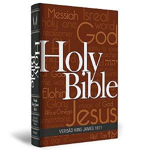 Bíblia King James 1611 - Holy Bible - Luxo - Capa Artística