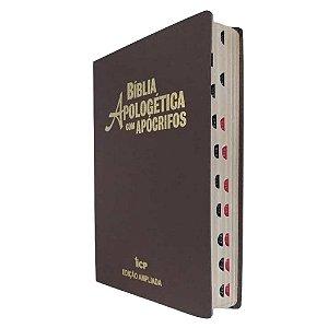 Bíblia Apologética com Apócrifos - RC- Letra Grande - Marrom