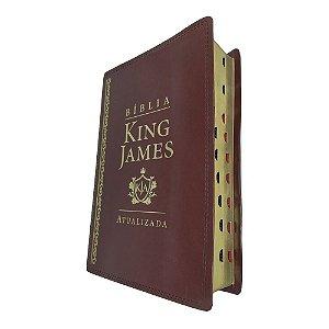 Bíblia De Estudo King James Atualizada Grande Marrom Índice