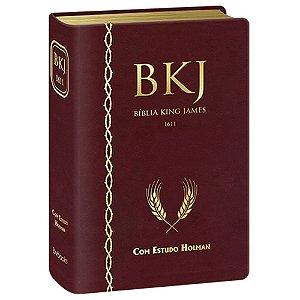 Bíblia De Estudo King James 1611 Holman - Vinho - BV Books