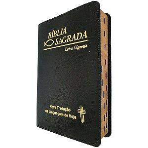Bíblia Sagrada Letra Gigante Ntlh Covertex Preta - Sbb