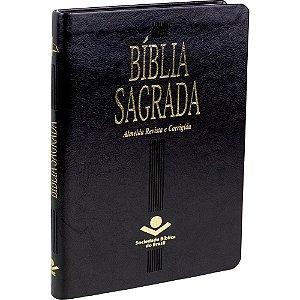 Bíblia Sagrada Slim Luxo Corrigida Fina Preta Sbb