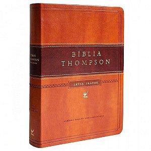 Bíblia de Estudo Thompson Letra Grande Marrom Escuro e Claro