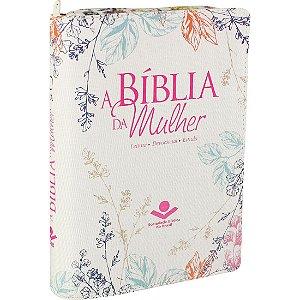 A Bíblia da Mulher RA Com Índice e Zíper - Luxo Florida Sbb