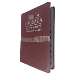 Bíblia Sagrada Concordância, Dicionário e Harpa Cristã Vinho