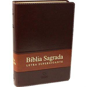 Bíblia Sagrada Supergigante NAA Marrom - Sbb