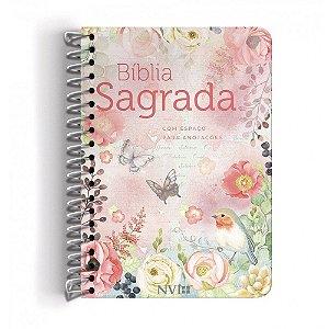 Bíblia Anote NVI Espiral Clássica Virtuosa - Geográfica
