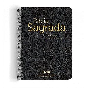 Bíblia Anote NVI Espiral - Preta - Geográfica