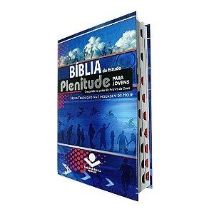 Bíblia de Estudo Plenitude Para Jovens Capa Dura Azul - NTLH