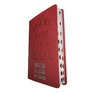 Bíblia Em Ação De Estudo - Capa Luxo Vermelha - Mensagem