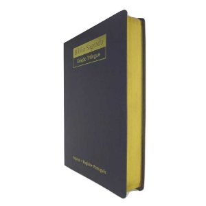 Bíblia Sagrada NVI Trilíngue Extra Gigante - Capa Luxo Preta