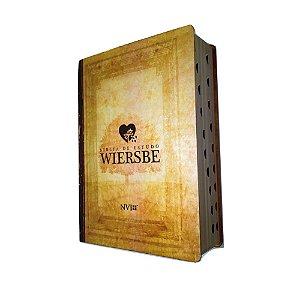 Bíblia de Estudo Wiersbe NVI Semi Luxo Ilustrada- Geográfica