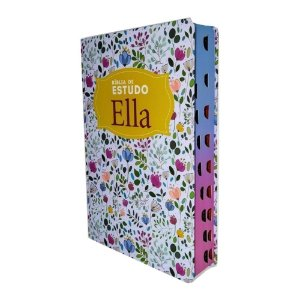 Bíblia Ella de Estudo - Capa Especial Floral - Geográfica