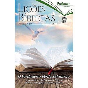 Revista Lições Bíblicas Adultos Professor 1º Trimestre 2021