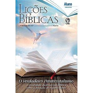Revista Lições Bíblicas Adultos Aluno 1º Trimestre de 2021