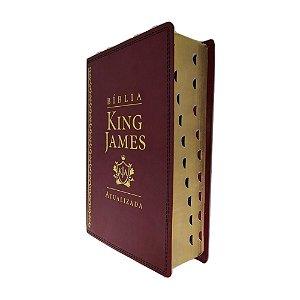 Bíblia De Estudo King James Atualizada Grande Vinho
