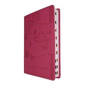 Bíblia da Mulher de Fé NVI Capa Luxo Rosa Thomas Nelson