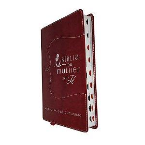 Bíblia da Mulher de Fé NVI Couro Soft Vermelho Thomas Nelson