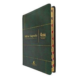 Bíblia NVI Capa Couro Bonded Verde Letra Grande ThomasNelson