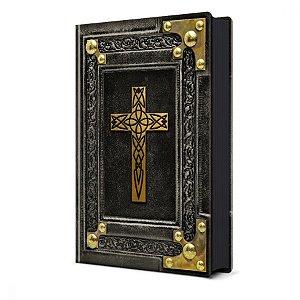 Bíblia Sagrada Vintage Preta NVI - Pão Diário