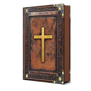 Bíblia Sagrada Vintage Marrom NVI - Pão Diário