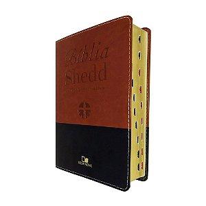 Bíblia de Estudo Shedd RA  - Capa Marrom e Preta - Vida Nova
