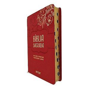 Bíblia NVI Letra Gigante Capa Luxo Vermelha Geográfica