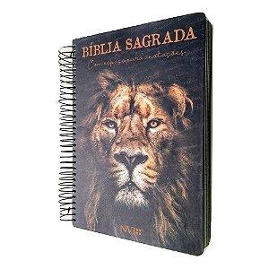 Bíblia Anote NVI Espiral - Leão de Judá - Geográfica